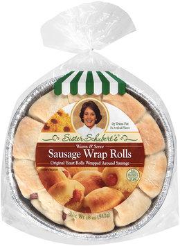 Sister Schubert's® Original Yeast Sausage Wrap Rolls 18 oz. Tray