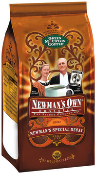 Newman's Own Whole Bean Special Decaf Coffee Organics 10 Oz Stand Up Bag