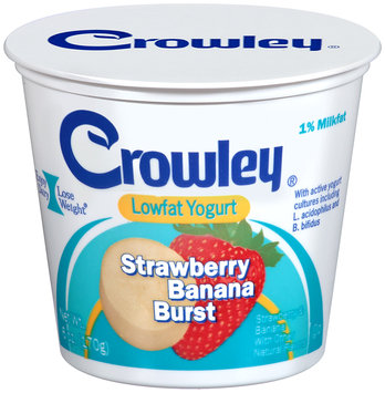 Crowley® Strawberry Banana Burst Lowfat Yogurt 6 oz. Cup