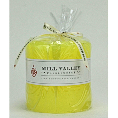 Mill Valley Candleworks Meyer Lemon Scented Pillar Candle Size: 4