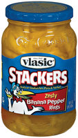 Vlasic Peppers Zesty Banana Rings Stackers 16 Fl Oz Jar