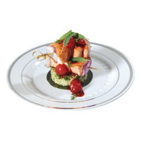 Fineline Settings, Inc Silver Splendor Plate (Pack of 150) Size: 7