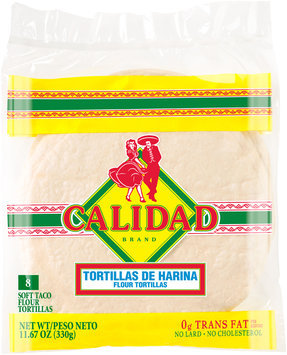 Calidad® Soft Taco Flour Tortillas 8 ct Bag