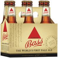 Bass 12 Oz Pale Ale 6 Pk Glass Bottles
