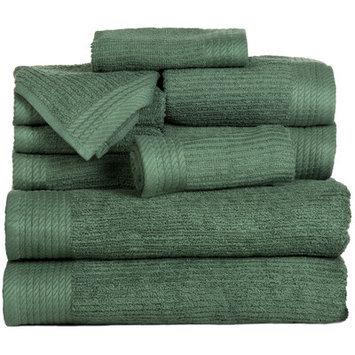 Andover Mills Pernelia 10 Piece Egyptian Cotton Towel Set Color: Green
