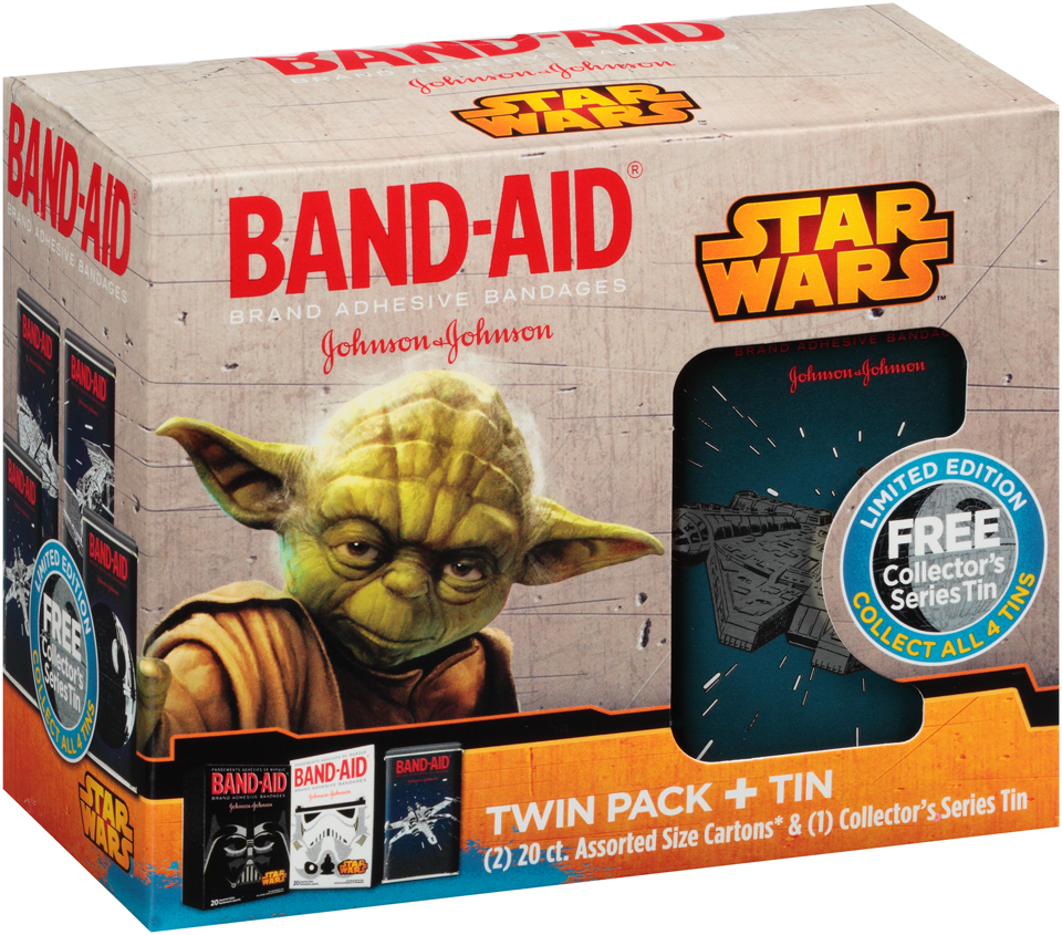 Band-Aid® Star Wars™ Twin Pack + Tin Adhesive Bandages Pack
