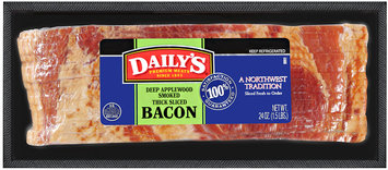Daily's® Deep Applewood Smoked Thick Sliced Bacon 24 oz