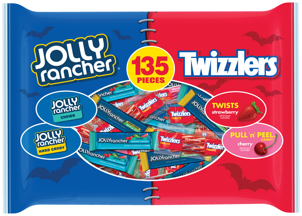 Hershey's Jolly Rancher and Twizzlers Assorted Candy, 135 count