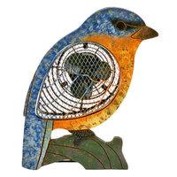 Decoflair Figurine Bluebird Wood Fan