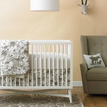 Dwell Furniture DwellStudio Woodland Tumble Printed Fitted Crib Sheet