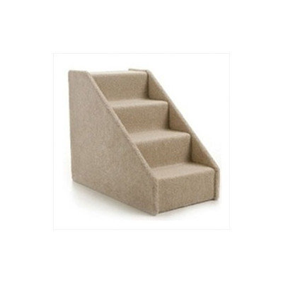 Lucky Cat Large Solid Side 4 Step Pet Stair, Ivory