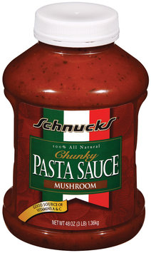 Schnucks Mushroom Chunky Pasta Sauce 48 Oz Plastic Container