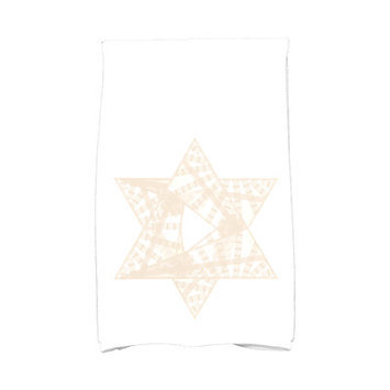 The Holiday Aisle Star Mosaic Hand Towel Color: Cream