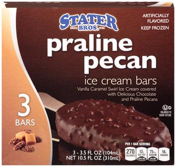 Stater Bros.® Praline Pecan Ice Cream Bars 10.5 fl. oz. Box