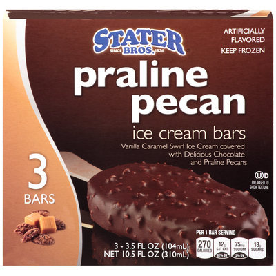 Stater Bros.® Praline Pecan Ice Cream Bars 10.5 fl. oz. Box