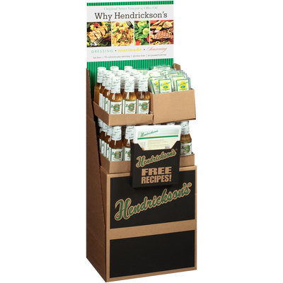 Hendrickson's® Original Sweet Vinegar & Olive Oil Salad Dressing Display