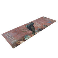 Kess Inhouse Faith Hope Love by Suzanne Carter Typography Yoga Mat