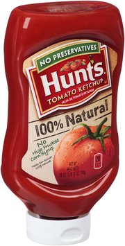 Hunt's® 100% Natural Tomato Ketchup 28 oz. Squeeze Bottle