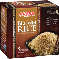 Stater Bros.® Whole Grain Brown Rice 3-10 oz. Pouches