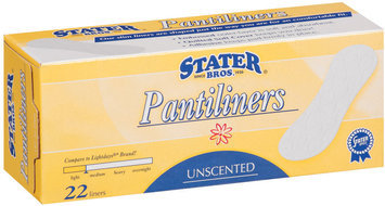 Stater Bros. Light Unscented Pantiliners   Box