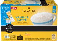 Gevalia 2-Step Vanilla Latte Espresso Coffee Single Serve Cups & Latte Froth Packets