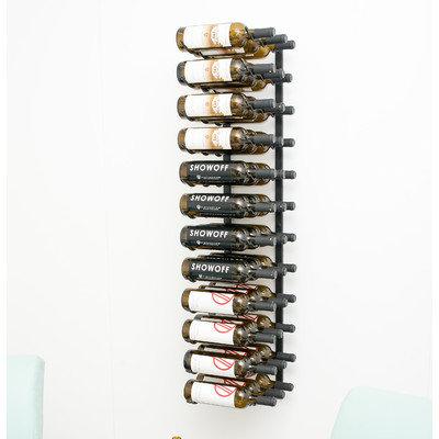 Latitude Run 36 Bottle Wall Mounted Wine Rack Finish: Satin Black