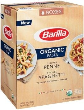Barilla™ Organic Penne/Spaghetti Pasta 6-1 lb. Boxes