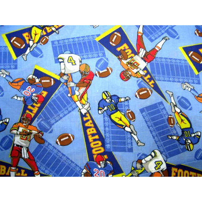 Stwd Football Pack N Play Fitted Playard Sheet