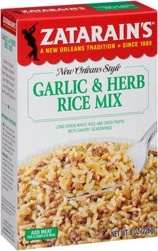 Zatarain's® Garlic & Herb Rice Mix 8 oz. Box