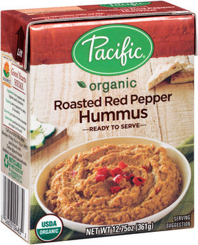 Pacific Organic Roasted Red Pepper Hummus