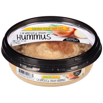 Garden Fresh Gourmet® Caramelized Onion Hummus 12 oz. Plastic Tub