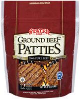 Stater Bros. Ground Beef Patties 48 Oz Bag