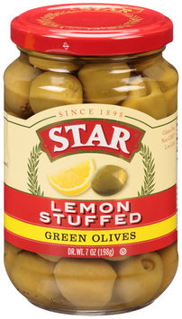 Star® Lemon Stuffed Green Olives 7 oz. Bottle