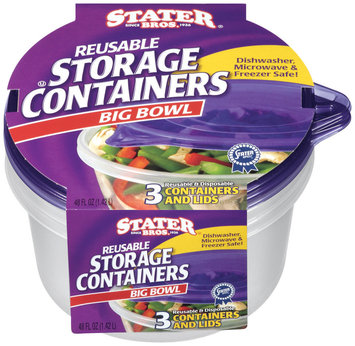 Stater Bros.® Reusable Storage Containers Big Bowl 3 ct.