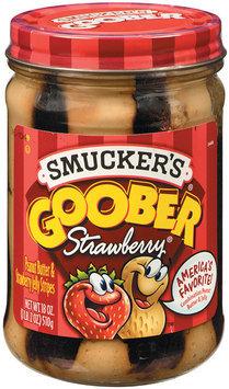 Smucker's Strawberry Stripes Goober Peanut Butter & Jelly 18 Oz Jar