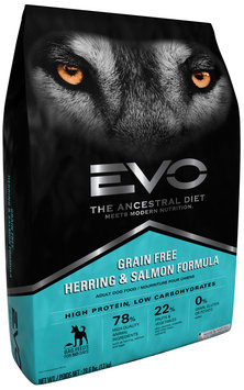 EVO Herring & Salmon Formula Adult Dog Food 28.6 lb. Bag