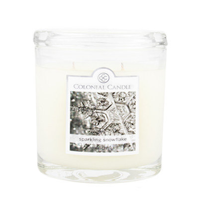 Fragranced in-line Container CC008.2856 8oz. Oval Sparkling Snowflake