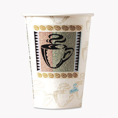Dixie Hot Cups, Paper, 12 oz, Coffee Dreams Design, 50/Pack