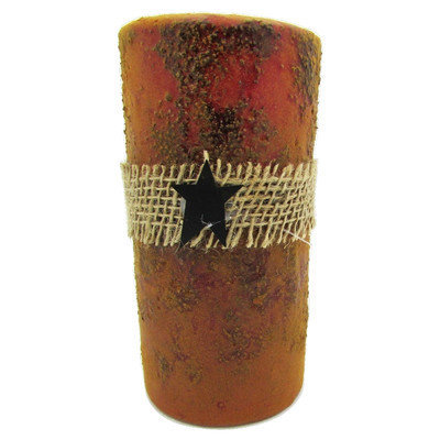 Starhollowcandleco Burly Votive Candle Color: Red