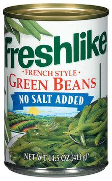 Freshlike French Style No Salt Added Green Beans 15 Oz Can
