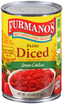 Furmano's® Petite Diced Tomatoes with Green Chilies 14.5 oz. Can