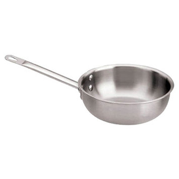 World Cuisine 12513-16 Stainless Steel Executive Splayed Saute Pan 1.0 Qt.