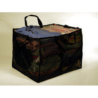 BetterBasket BB2-Black Two-Compartment Mesh Laundry & Utility Basket