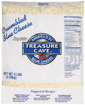 Treasure Cave® Blue Crumbled Cheese 5 lb. Bag