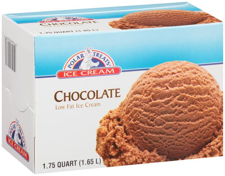 Polar Treats® Chocolate Low Fat ice Cream 1.75 qt. Carton