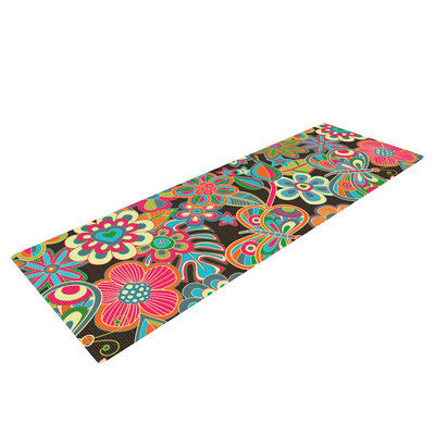 Kess Inhouse My Butterflies and Flowers by Julia Grifol Yoga Mat