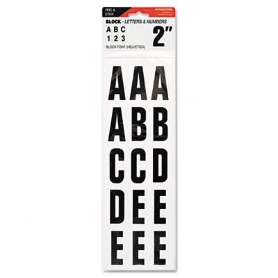 COSCO Letters, Numbers & Symbols, Adhesive, 2, Black