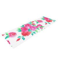 Kess Inhouse Pink Roses by Anneline Sophia Floral Yoga Mat