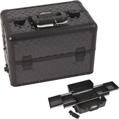 Sunrise E3301DMAB All Black Diamond Pro Makeup Case