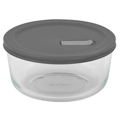 Pyrex No Leak Lids Round Baking Dish w/ Plastic Lid